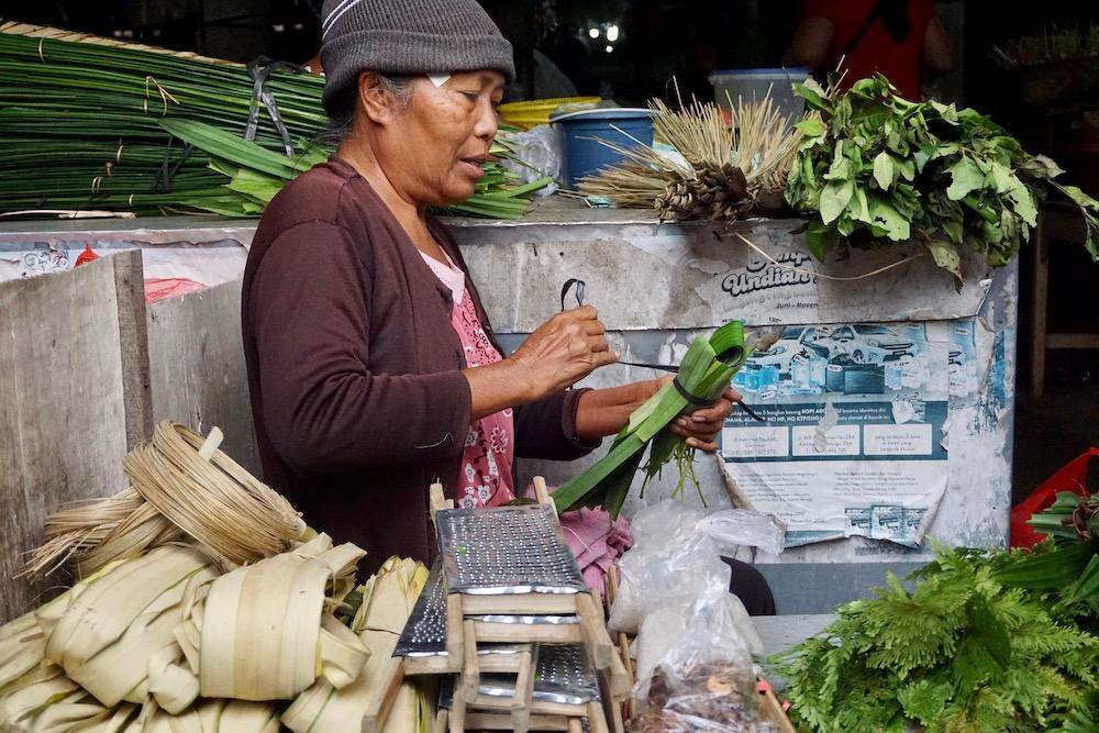 Pasar Pagi Sidemen Bali Indonesië