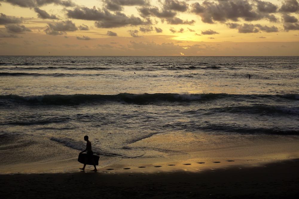 Zonsondergang Canggu Bali Indonesië