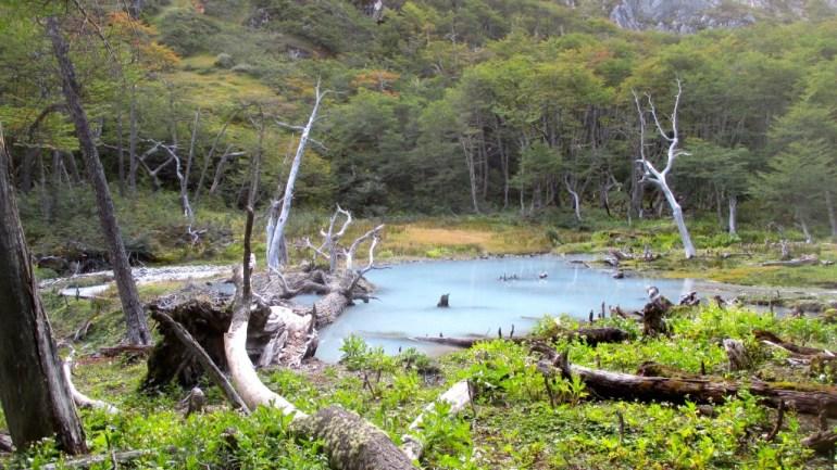 Scenic view to Laguna Esmeralda