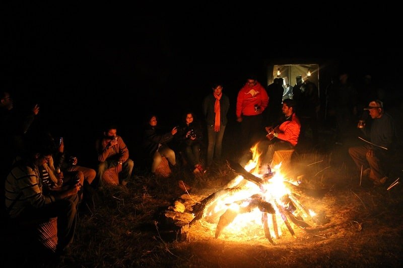 night camping the terraces kanatal