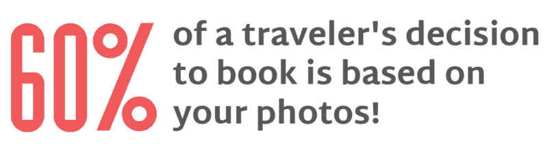 60% of a booking decision is based on your photos