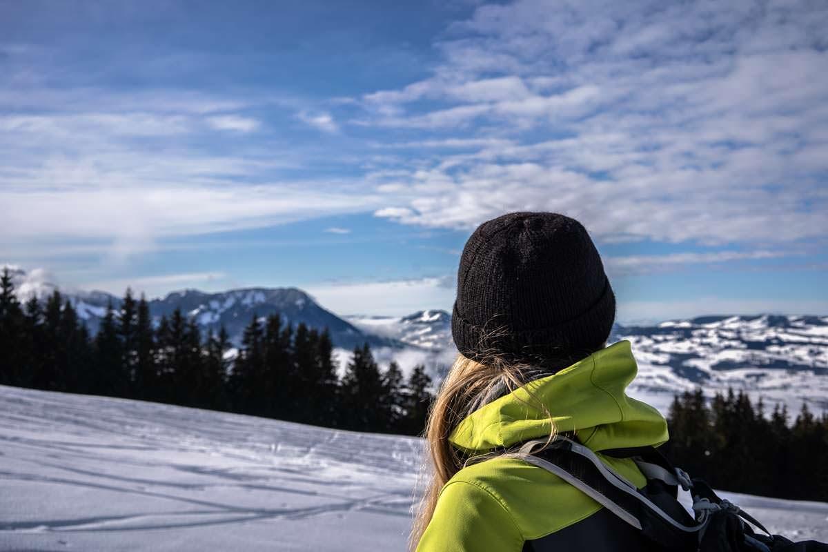 Blick vom Grünten im Winter