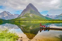 Swiftcurrent Lake at Many Glacier at Glacier National Park Montana