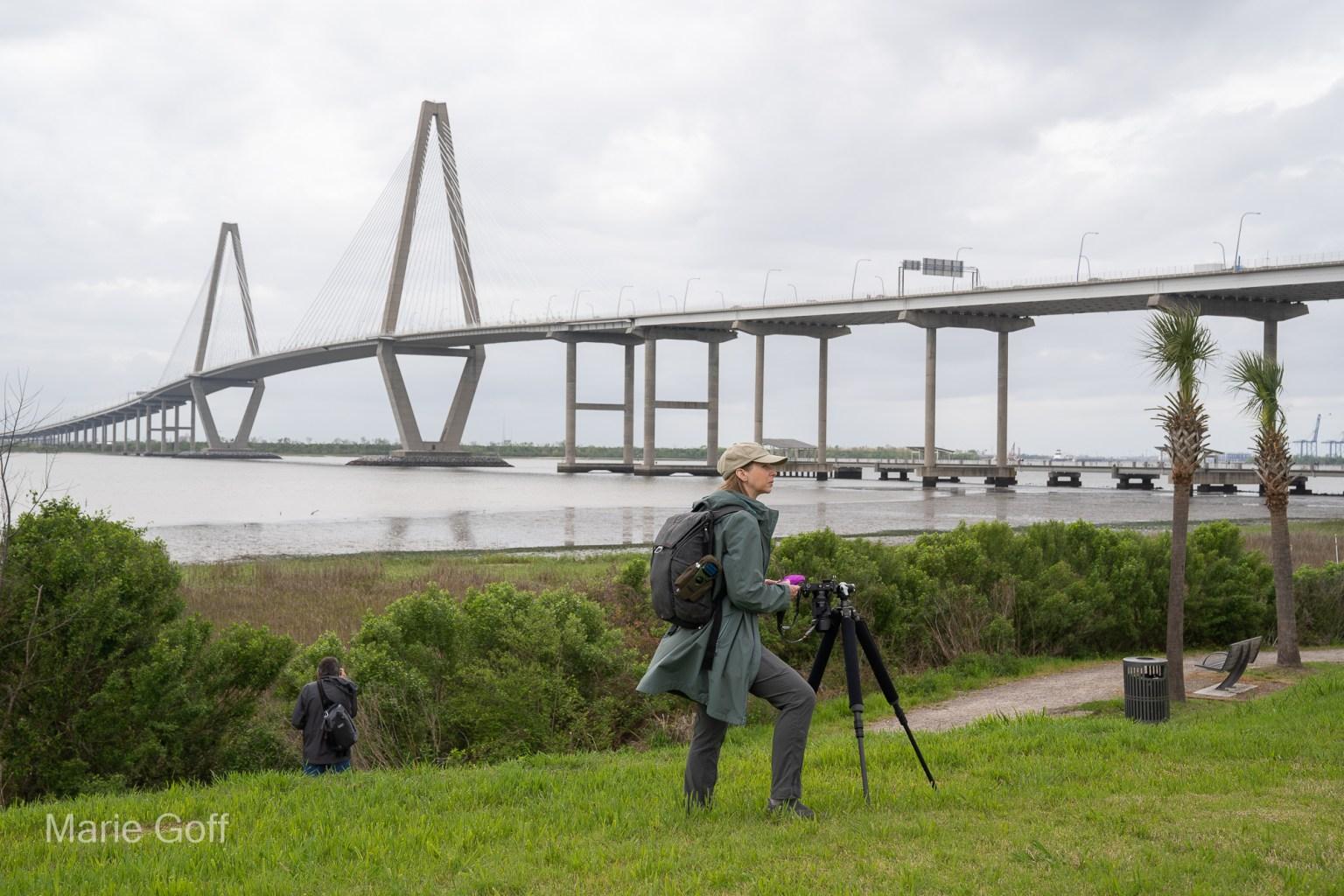 Photographer at Ravenel Bridge