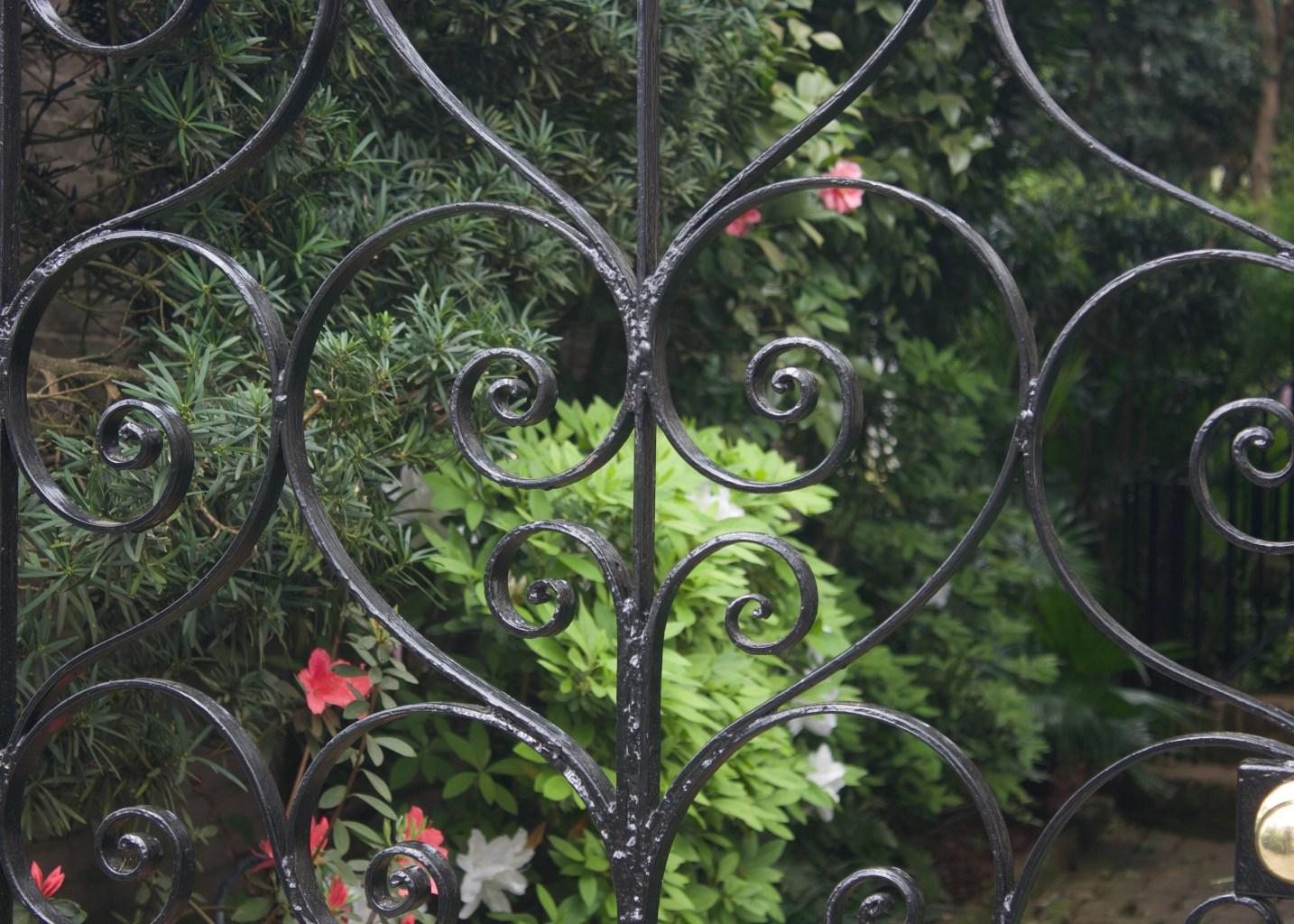 Wrought iron fense