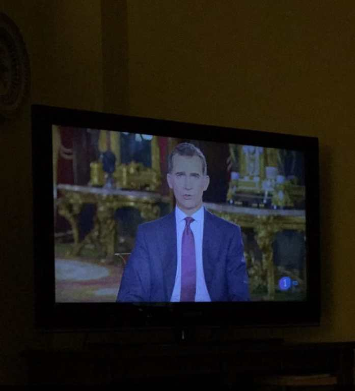 King Felipe VI of Spain spreading holiday joy as he gives a Christmas address, which is broadcasted all over the country on Christmas Eve.