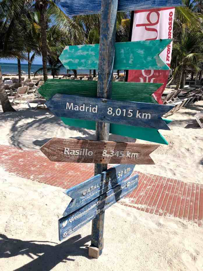 madrid, rasillo, catalonia hotel resort, beach, Mexico, destination sign