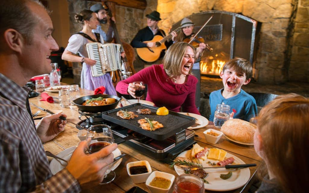 Family Dining at Der Fondue Chessel restaurant