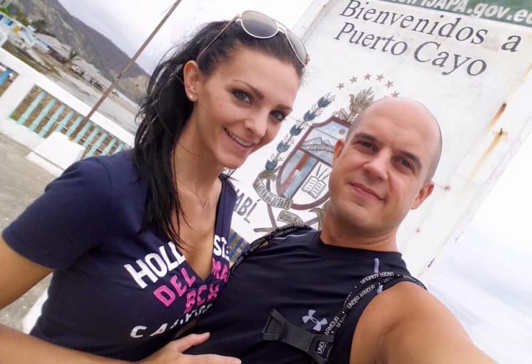 Trevor Kucheran and Kashlee in Ecuador Cayo