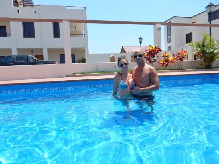 Pool at the Delfin Villas Puerto Cayo
