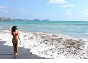 Girl Beach Ecuador