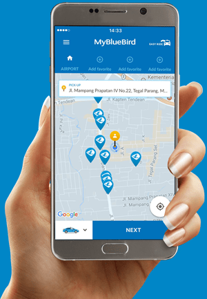 Blue Bird Taxi App in Bali