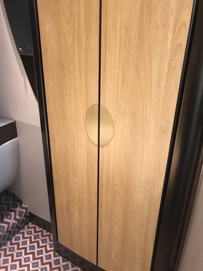 waredrobe in the new renovated GWR sleeper train