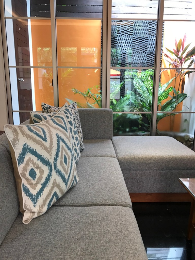 Living Room in Deluxe Pool Villa at Sun Island Seminyak