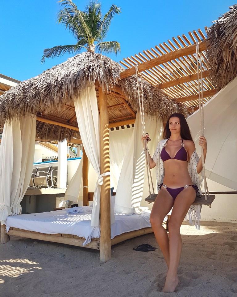Kashlee Kucheran Bali Bed with a Swing on the Beach in Puerto Vallarta