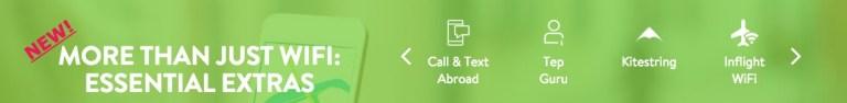Extra's with Tep Wireless: Tep guru, Kitestring, in-flight wifi