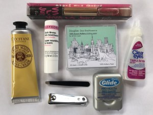 Travel Makeup - Dinoplatz Mulberry blotting papers and L'Occitane hand cream
