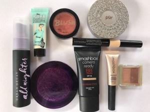 Travel Makeup Smashbox BB cream, Ubran Decay De-Slick and Porefessional Primer