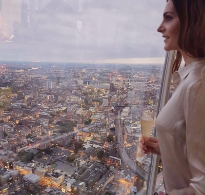 Champagne View at the Shard in London