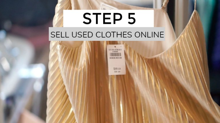 sell used clothes online for money