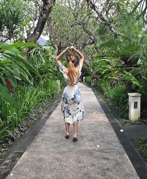 Kashlee at Sun Island Seminyak gardens Bali