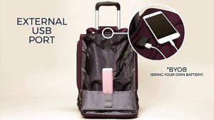 Samsonite spinner USB bag