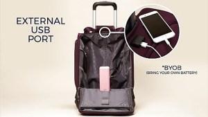 Samsonite spinner USB bag