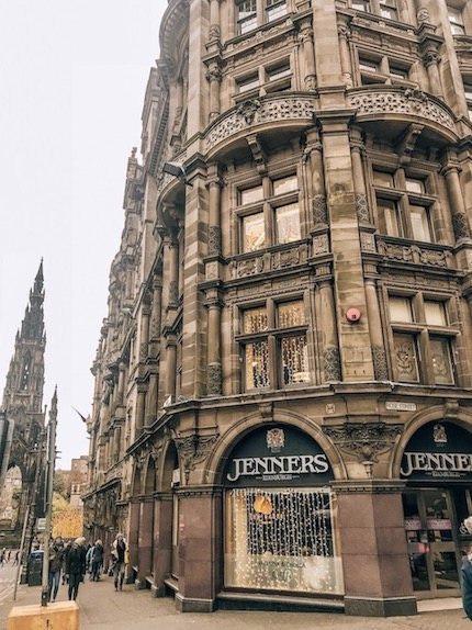 Princes st shopping - best things to do in edinburgh