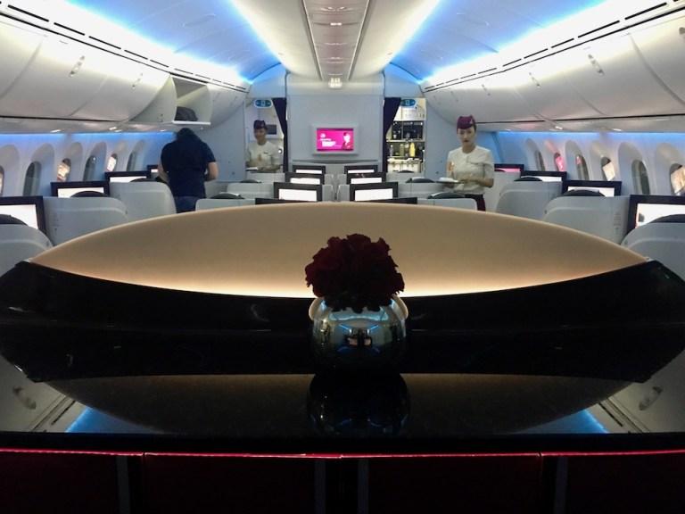 Qatar 787 configuration business class