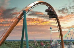 Ride The Yukon Striker - The Largest and Fast Dive Roller Coaster