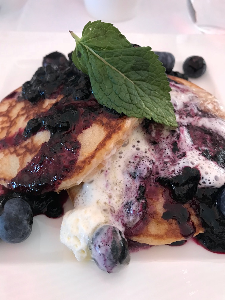 Blueberry Pancakes on Qatar airways business class flight