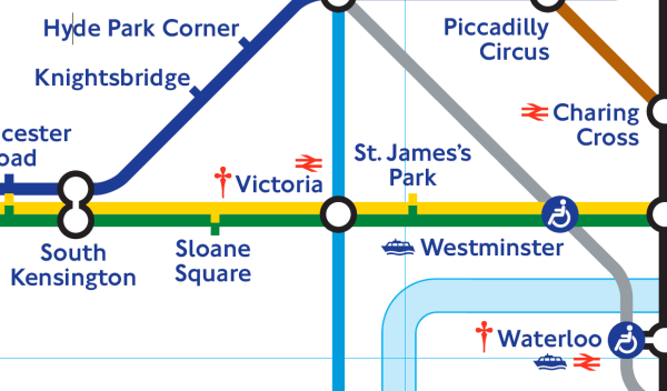 Victoria Station London Tube Map