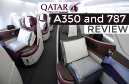 Qatar Business Class Review a350 787