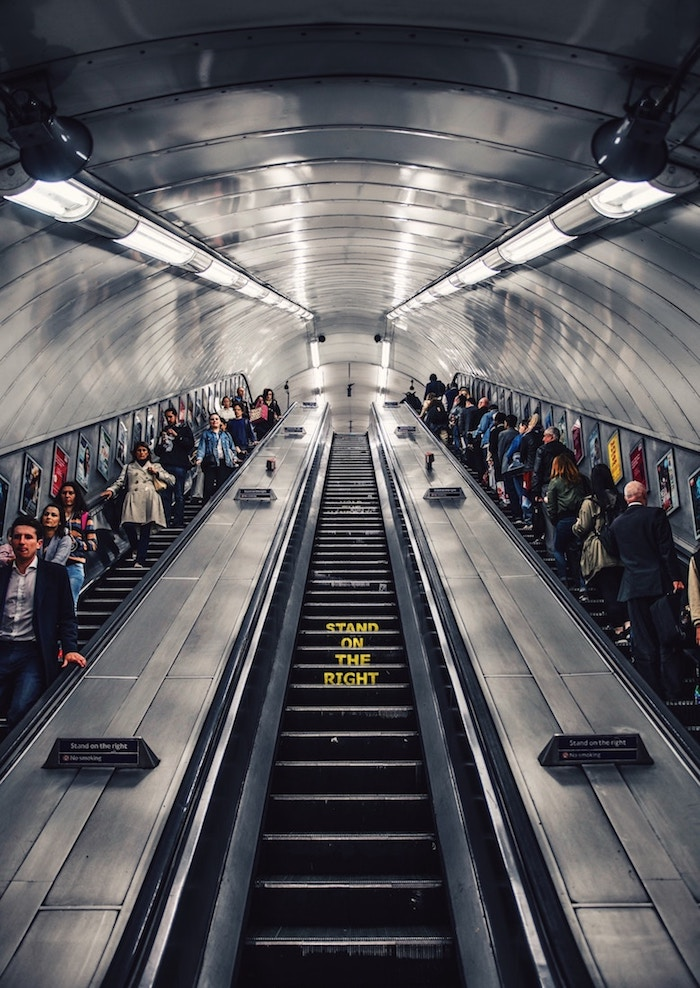 how to stand on the escalator in london