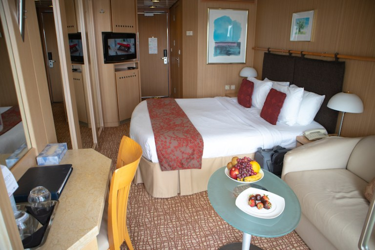 Balcony stateroom on Celebrity Millennium ship
