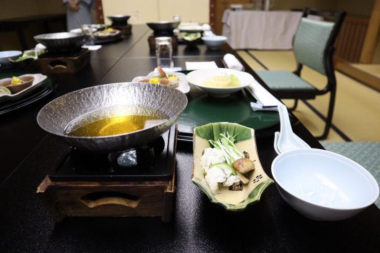 Traditional Kaiseki Japanese Ryokan Dinner