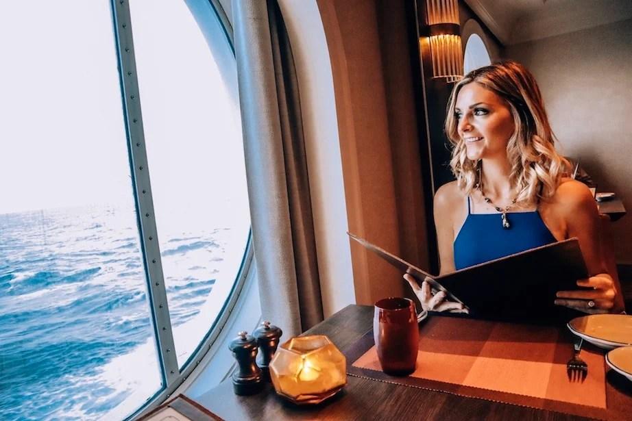 Dinner at Tuscan Grille on Celebrity Cruises - Kashlee Kucheran