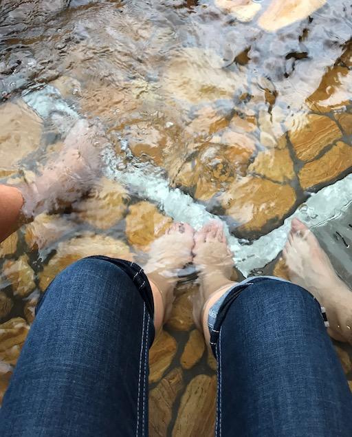 Gero foot bath - natural hot spring water