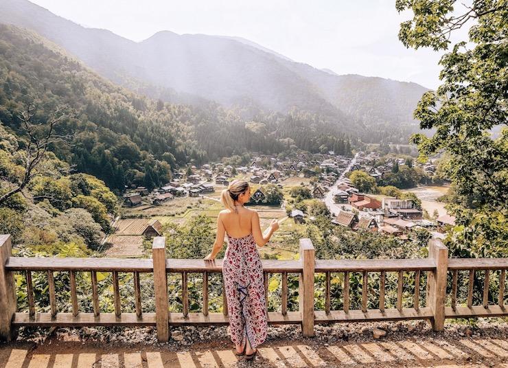 Kashlee at Shirakawa Go village Gifu