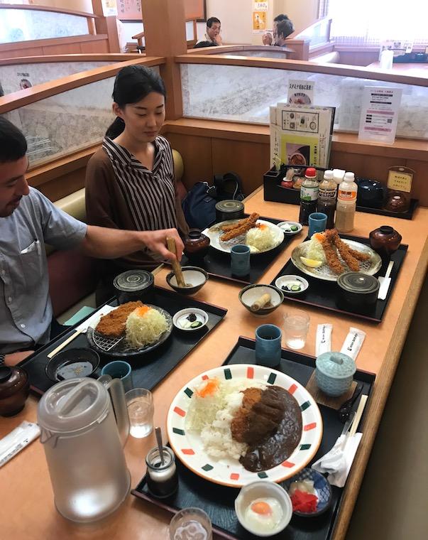 Katsu lunch in Seki Japan
