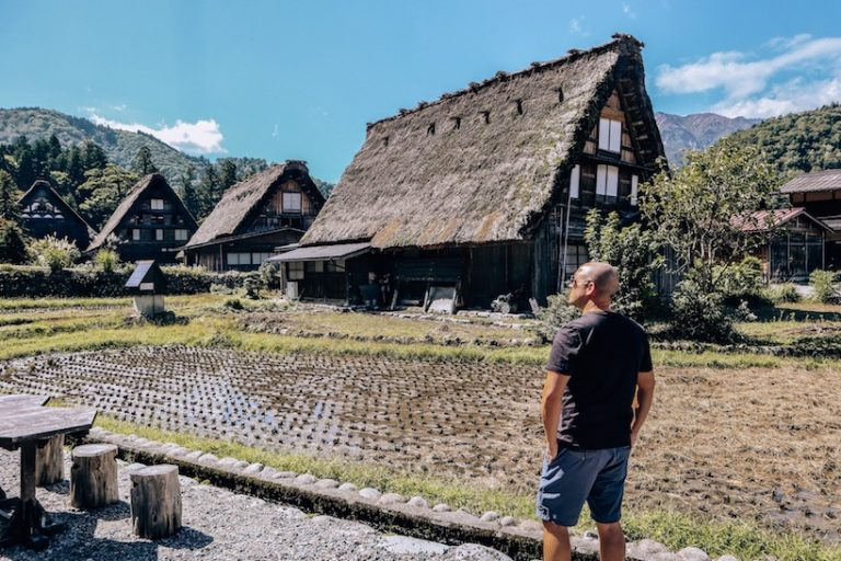 Shirakawa go village in japan with Trevor Kucheran