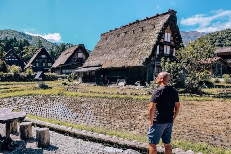 Shirakawa go village in japan with Trevor Kucheran