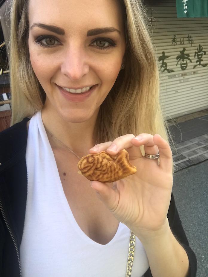 Kashlee Kucheran at the Miyagawa Market in Japan - Gifu
