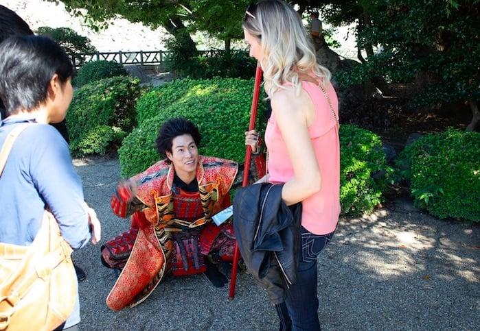 Samurai in Nagoya Japan
