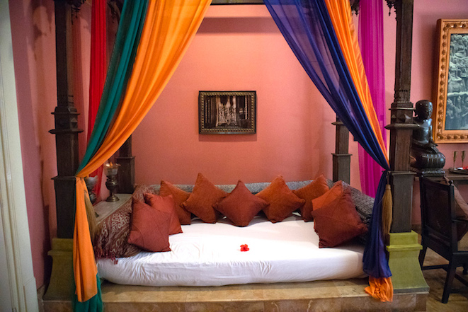 day bed in the apsara suite