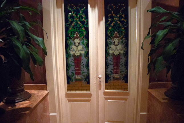 stained glass doors in apsara suite tugu