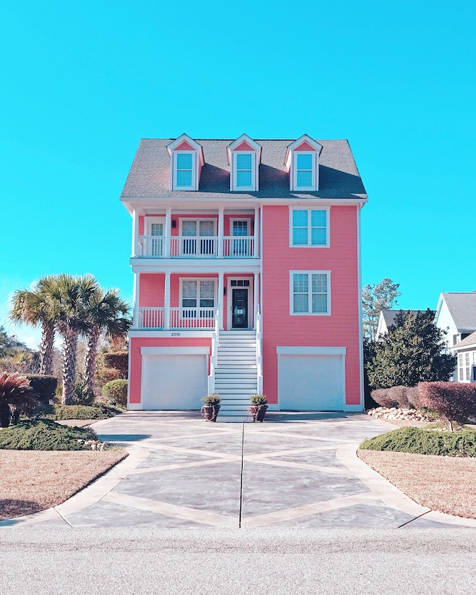 pink beach house myrtle beach