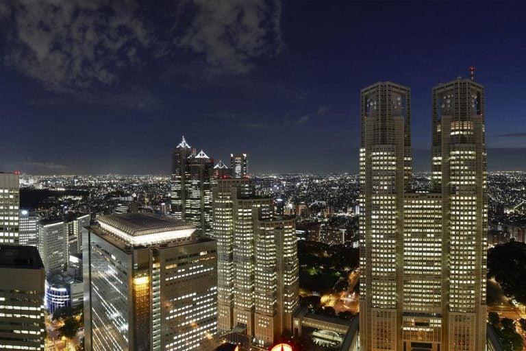 Keio Plaza Hotel Night Lights View
