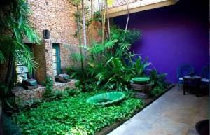 private garden in apsara suite tugu