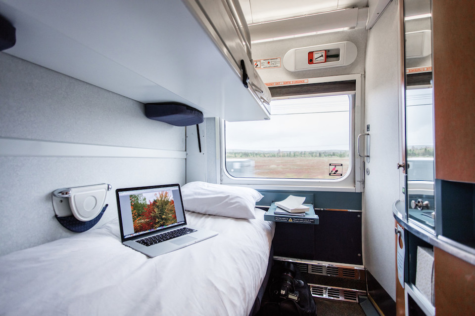 Via rail private cabin night time configuration